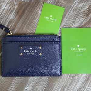 NWT Kate Spade Navy Blue Card and Coin Holder